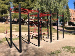 barras de calistenia al aire libre